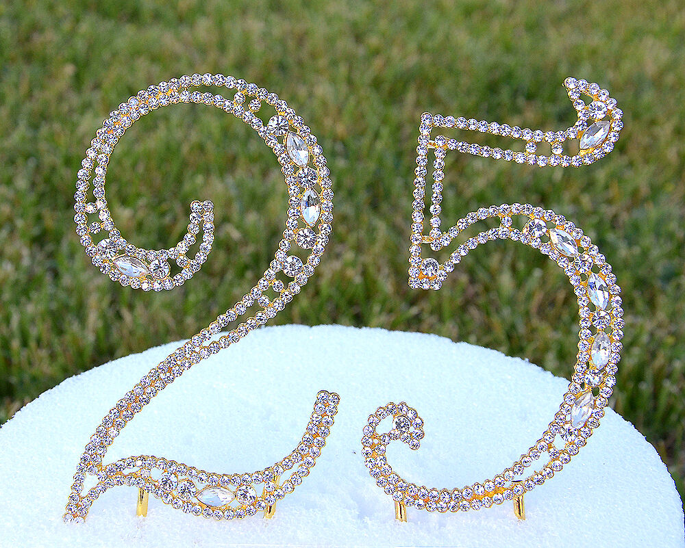 5 Quot Rhinestone Gold Number Twenty Five Bling Cake Topper 25