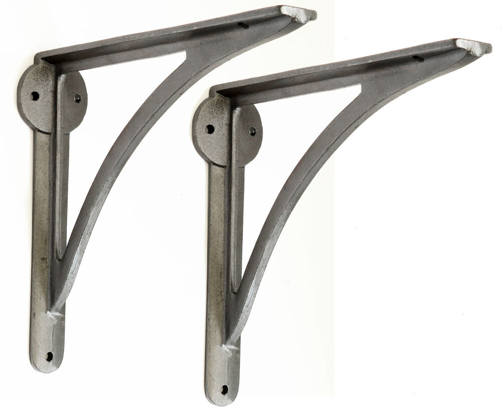 Pair Cast Iron Victorian Ironbridge Shelf Brackets