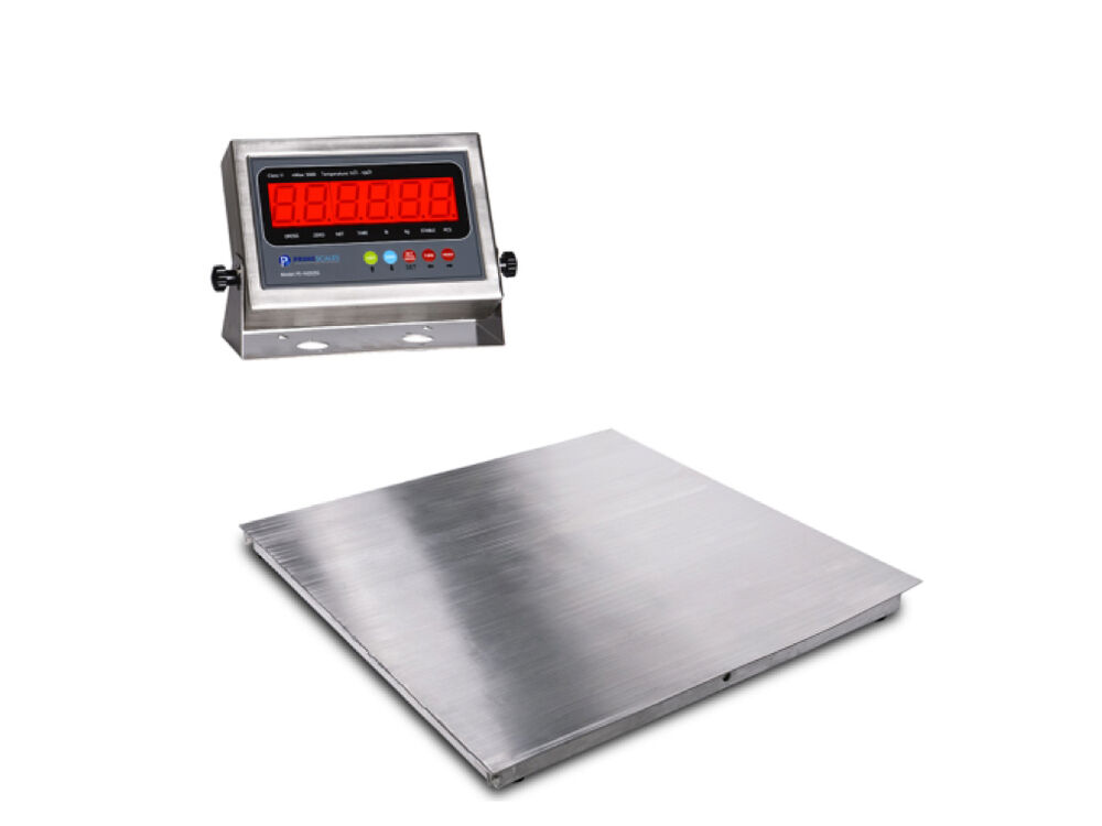 New stainless steel floor scale w indicator 2 39 x2 39 24 x24 for 1000 lb floor scale