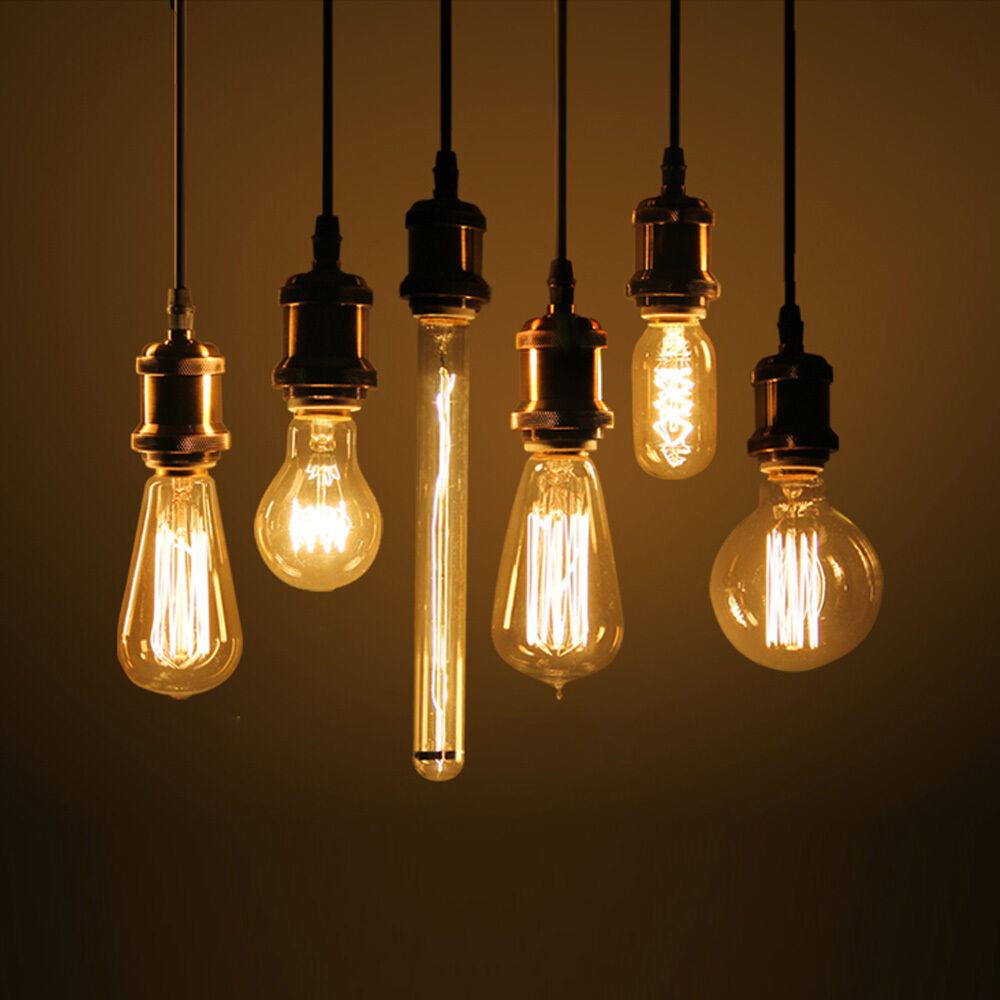 Lighting Bulb: 40w E27 E26 Edison Bulb Retro Industrial Incandescent