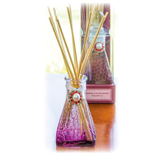 Lilac blossom scented decorative glass reed diffuser ebay for Decorative diffuser