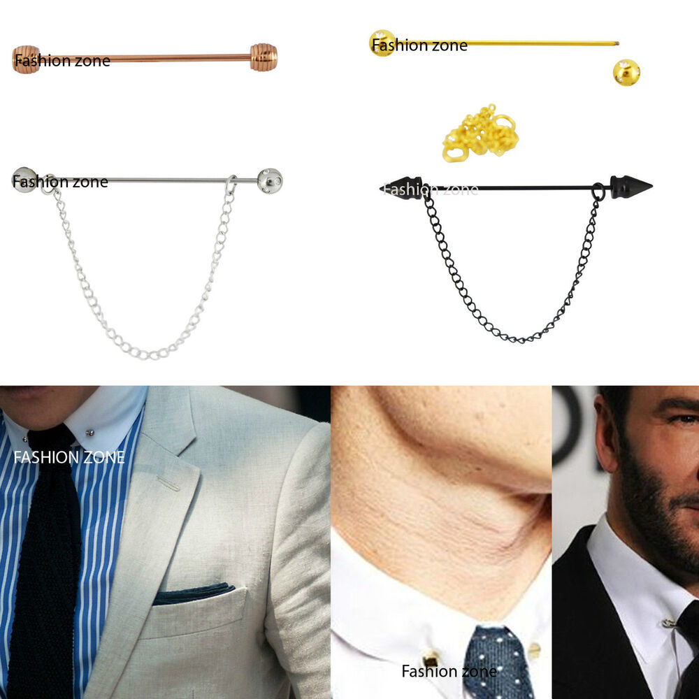 how to wear a tie pin with chain