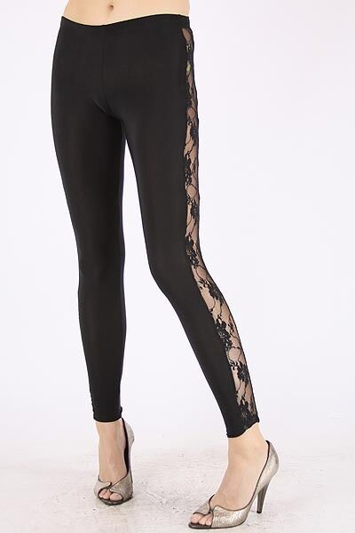 Side Lace Panel Leggings We Carry Plus Size Ebay