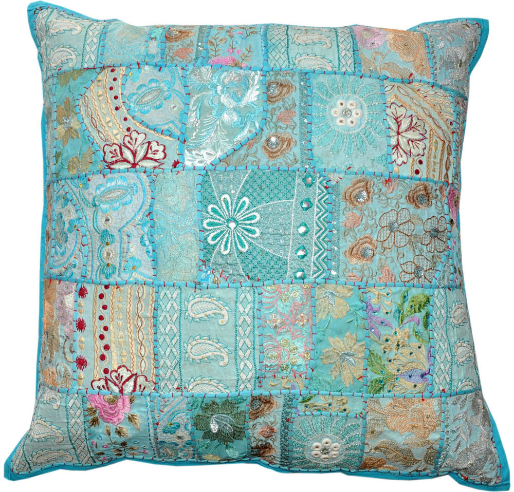 24 x 24 throw pillow cushion for couch indian decorative for Sofa cushion covers 24x24
