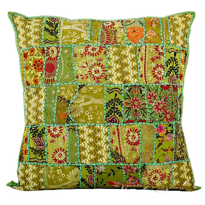 Decorative Pillows For Bed Green : Green 24x24