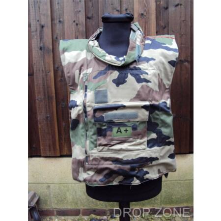 img-NEW French Military Camouflage Flak Jacket / Armoured Vest Cover / Paintballing