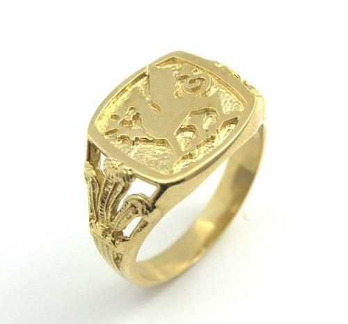 Mens Signet Ring Dragon