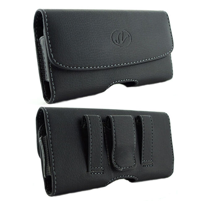 leather sideways belt clip pouch holster for verizon