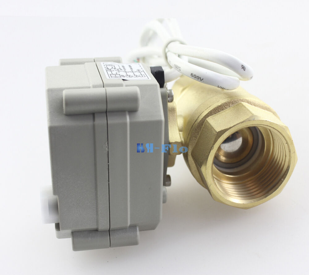 brass motorized ball valve 1 2 to 1 1 4 two way npt