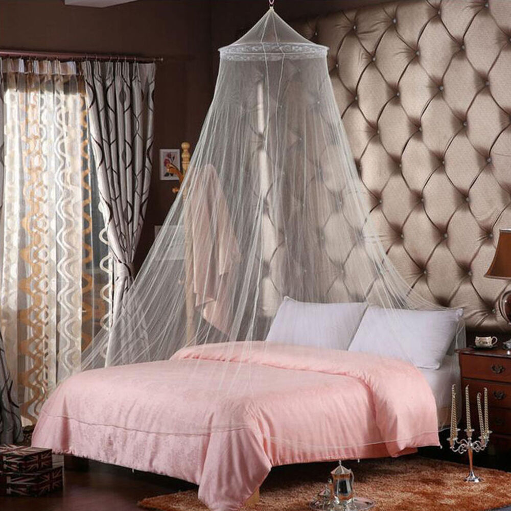 Elegant Round Lace Insect Bed Canopy Netting Curtain Dome Mosquito Net Usa E1 Ebay