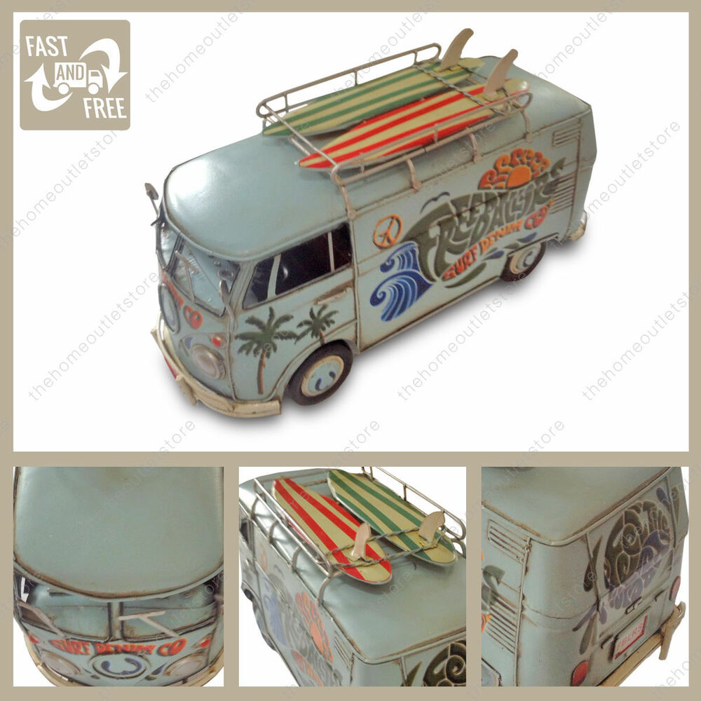 1966 tin plate vw split screen camper van kombi with surf for 1963 vw samba t1 21 window split screen campervan