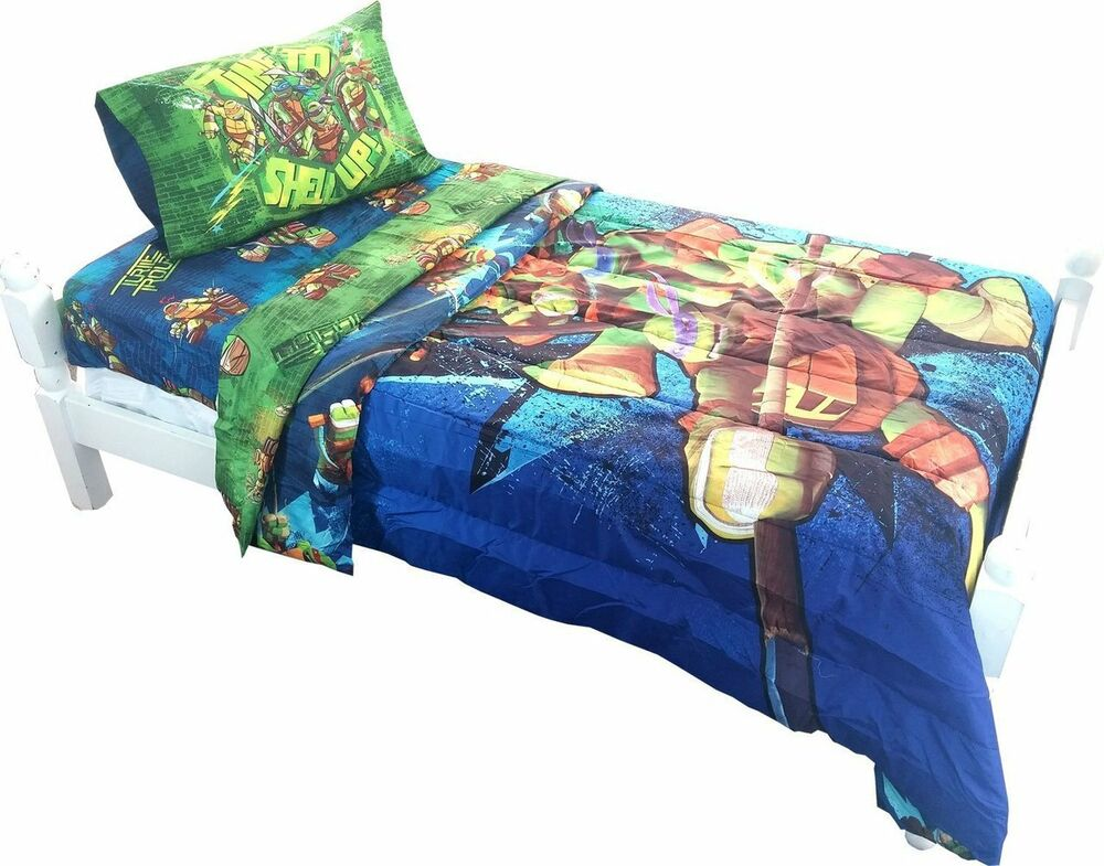 Teenage Mutant Ninja Turtles Twin Full Bed Comforter Time