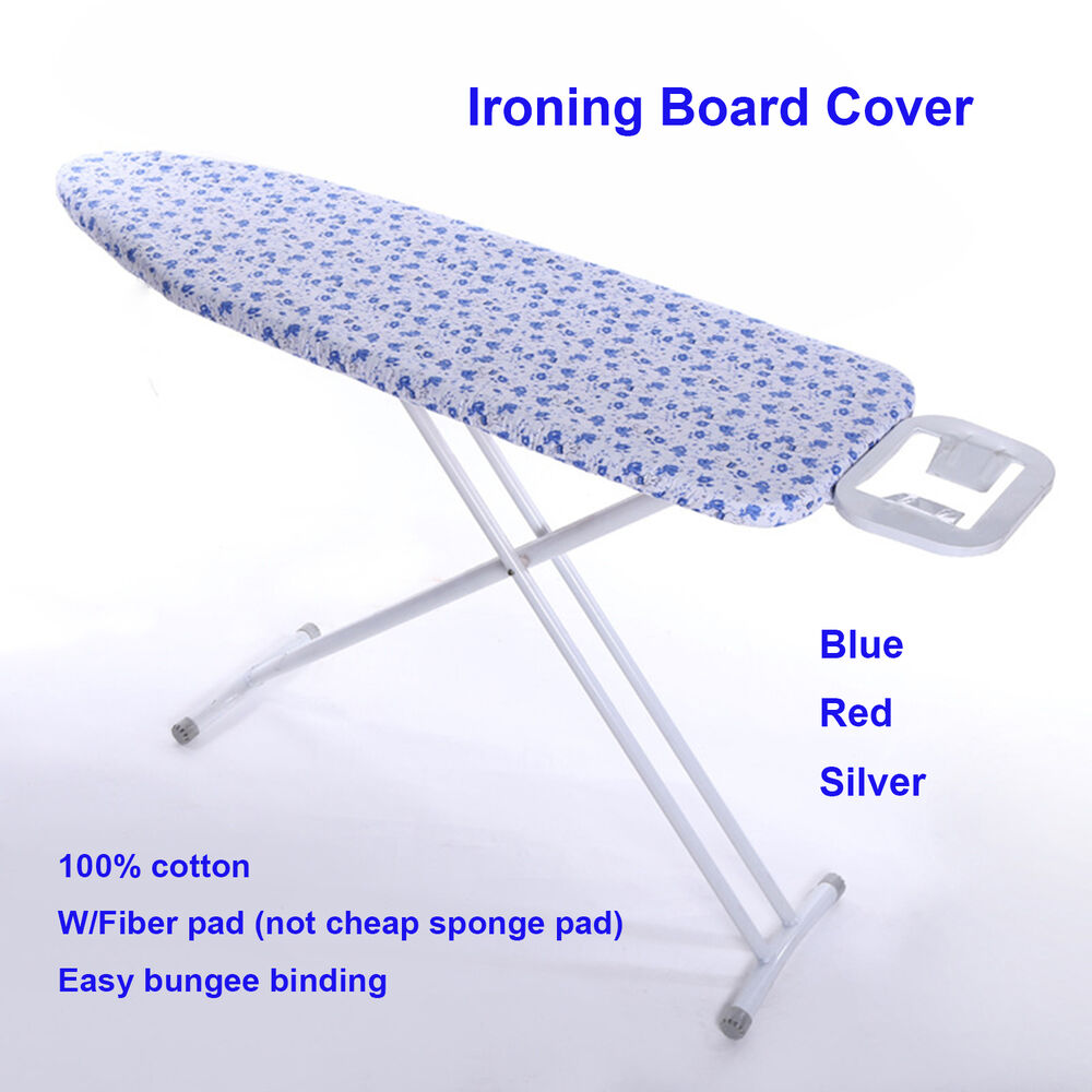 15 39 39 x 48 cotton ironing board cover w 4mm fiber pad red. Black Bedroom Furniture Sets. Home Design Ideas