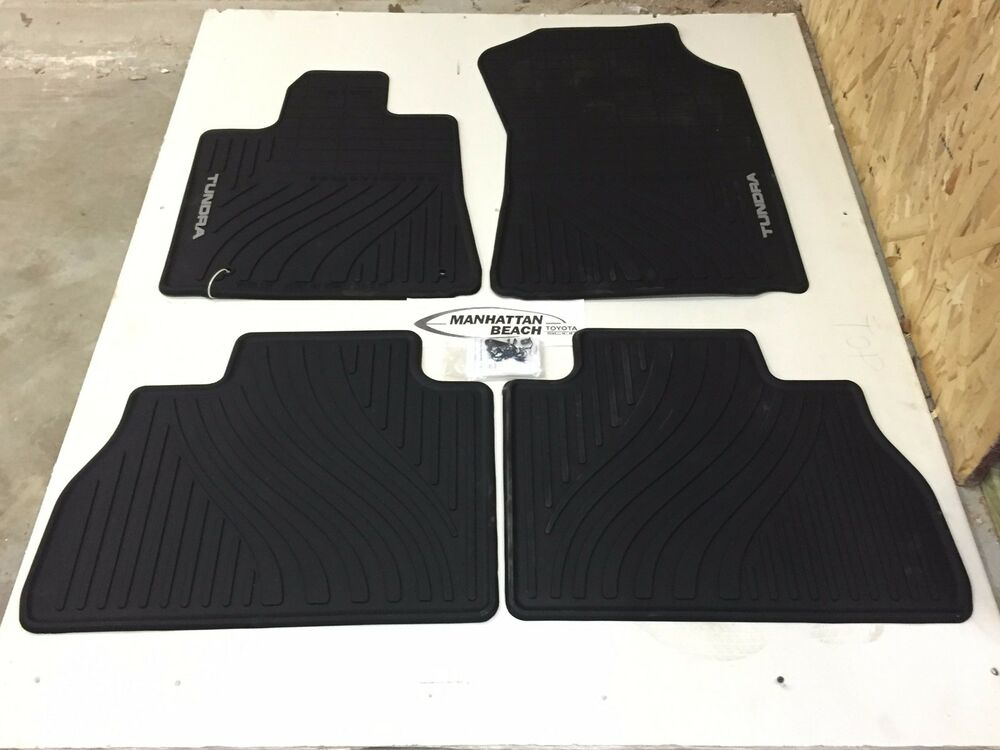 2007 2011 tundra crew max double cab all weather floor for Original toyota floor mats
