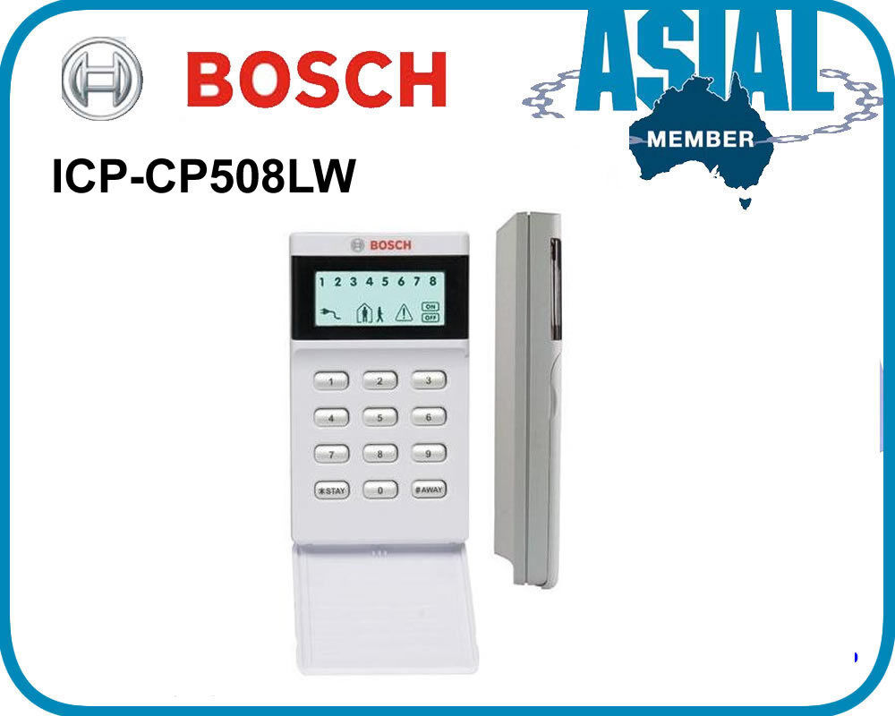 bosch alarm lcd icon keypad icp cp508lw for solution. Black Bedroom Furniture Sets. Home Design Ideas