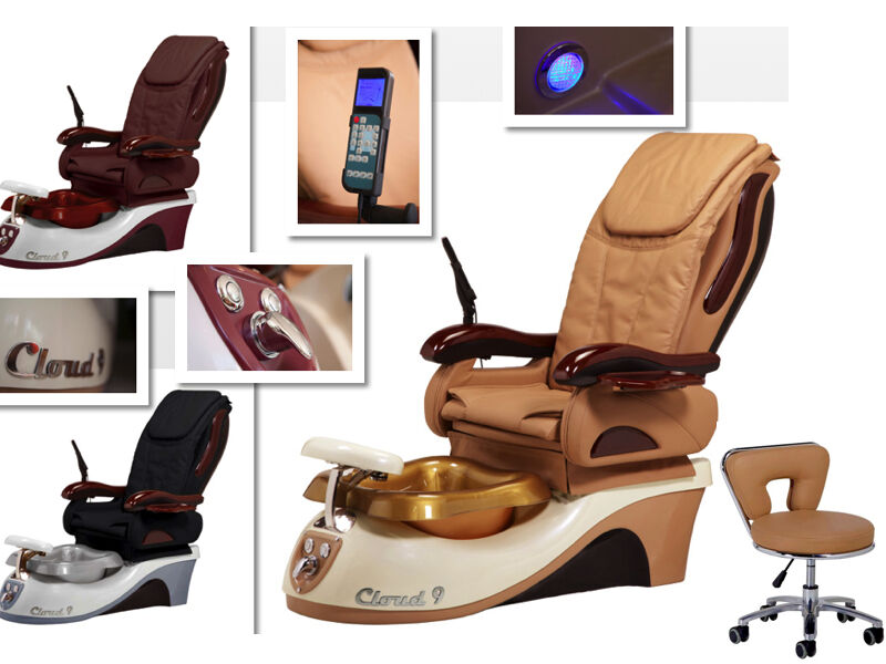 Brand New Cloud 9 Massage Lcd Air Seat Pedicure Spa Chair
