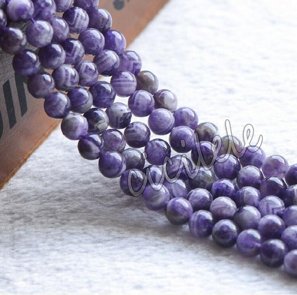 natural round amethyst jewelry loose gemstone stone beads