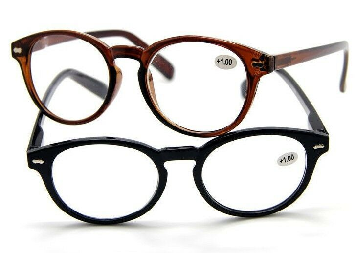 Large Frame Retro Reading Glasses : 60s Vintage Classic Retro Round Large Frame Hippies ...
