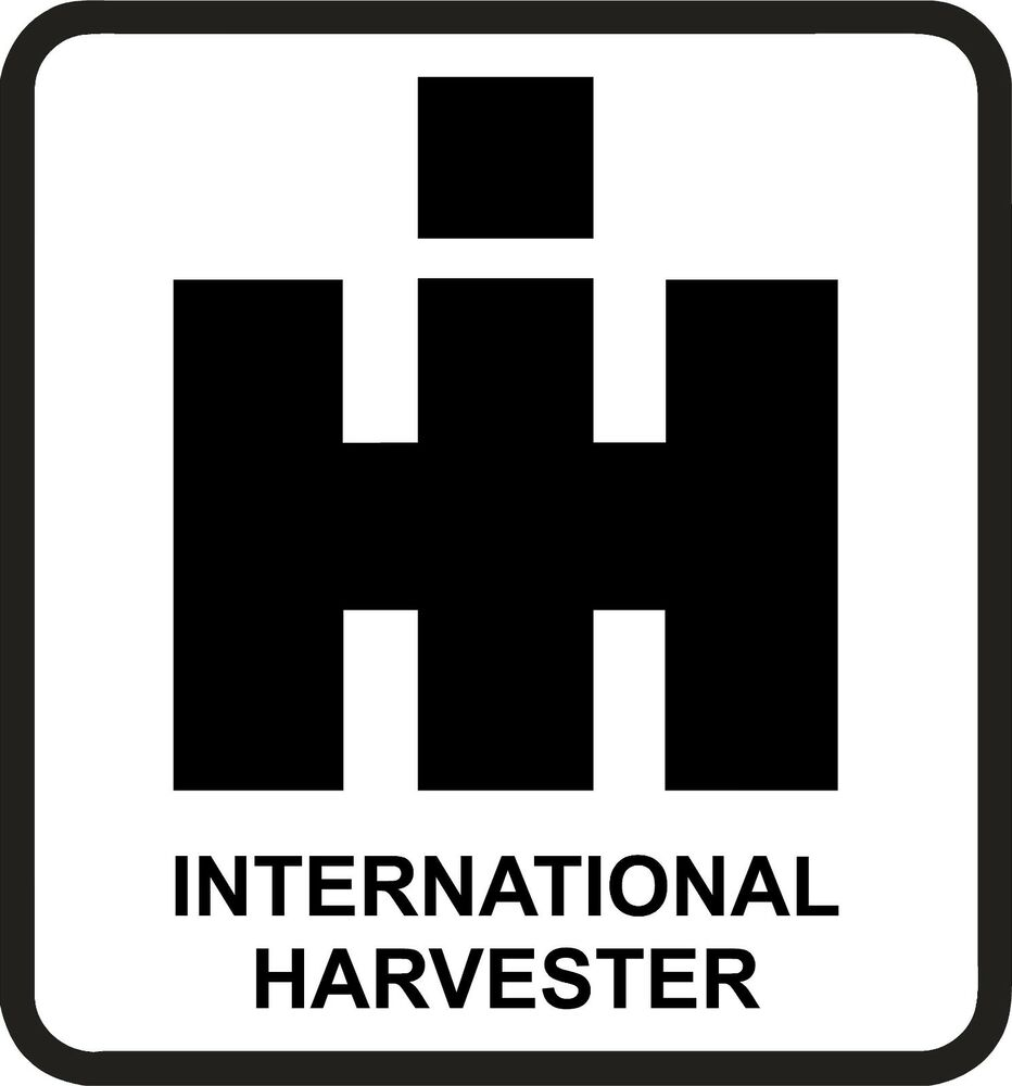 International Harvester Decals And Stickers : International harvester ih sticker die cut decal self