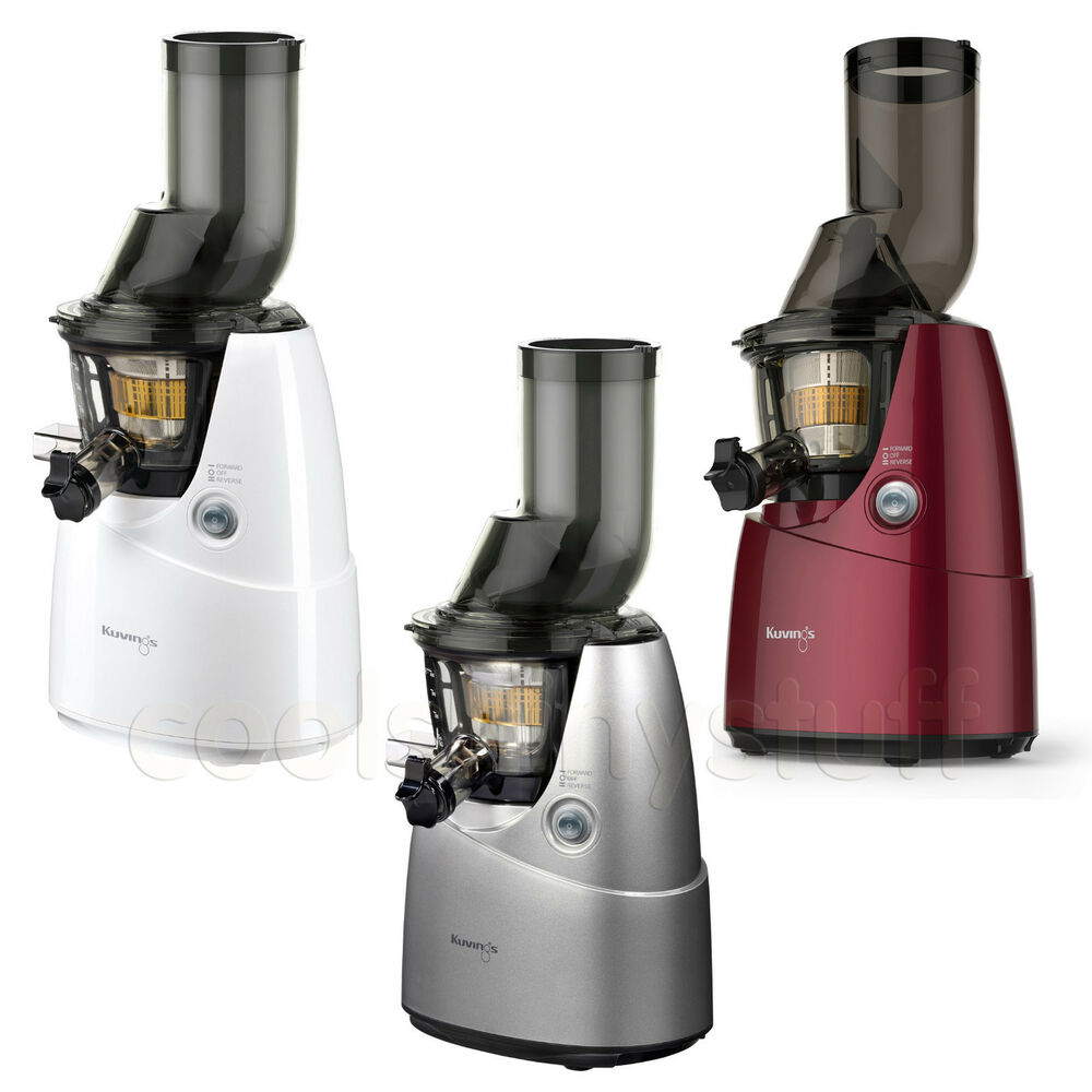 Best Wide Mouth Slow Juicer : Kuvings Whole Slow Juicer B6000S Silver, B6000W White, B6000PR Red Large Mouth eBay