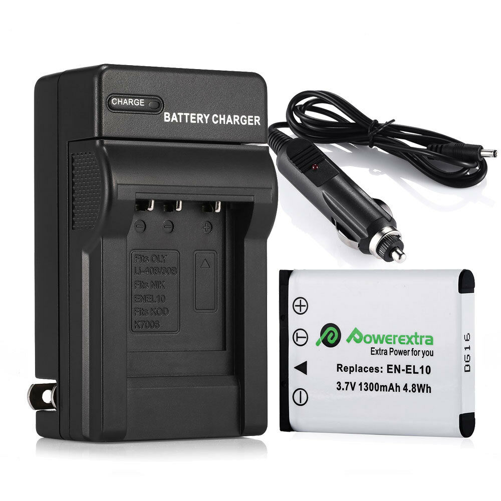 1300mah En El10 Battery Charger For Nikon Coolpix S80