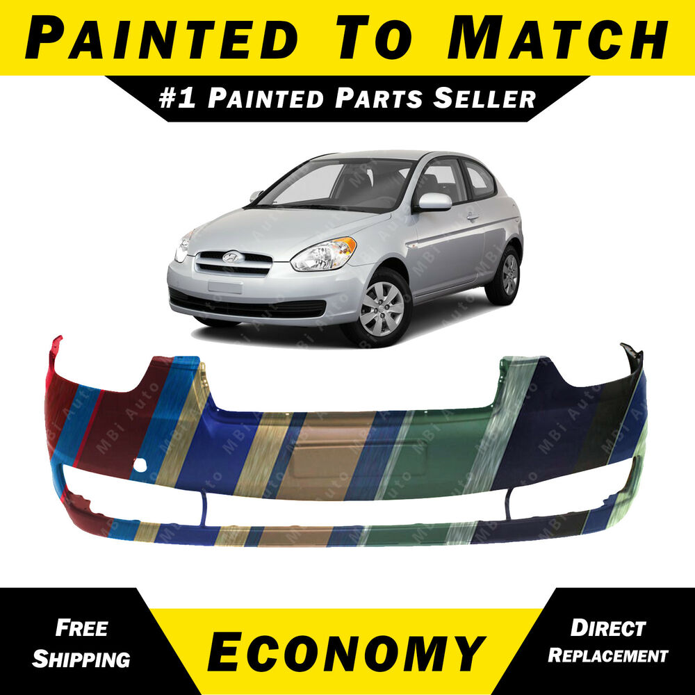 New Painted To Match Front Bumper Cover Replacement For 2006 2011 Hyundai Accent Ebay