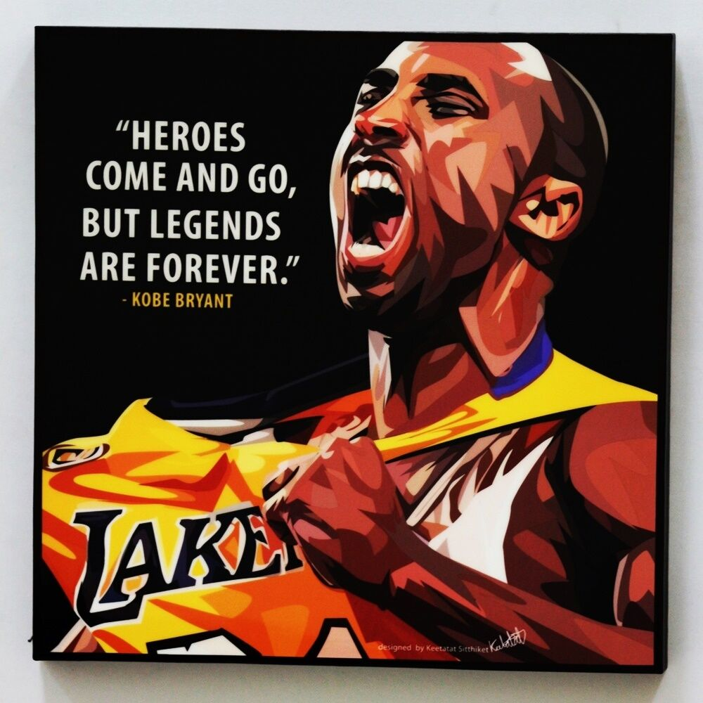Kobe Bryant Lakers Canvas Quotes Wall Decals Photo