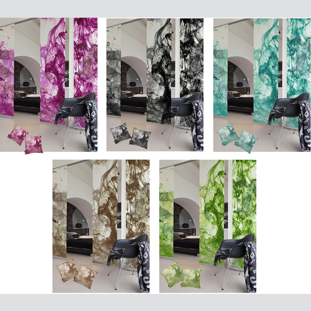 Storm Of Colours Sliding Curtain Surface Panel Room Divider Ebay