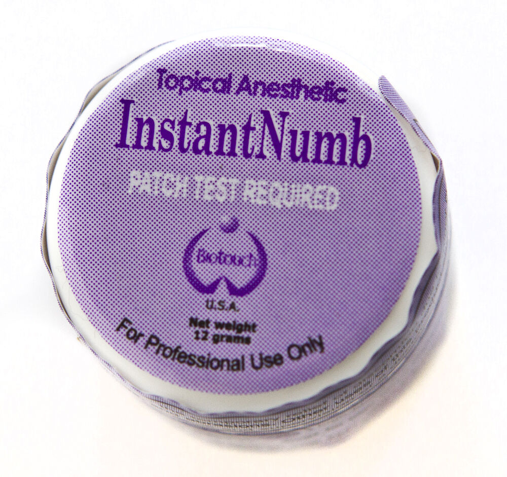 Biotouch instant numb cream lidocaine topical anesthetic for Topical analgesic for tattoos