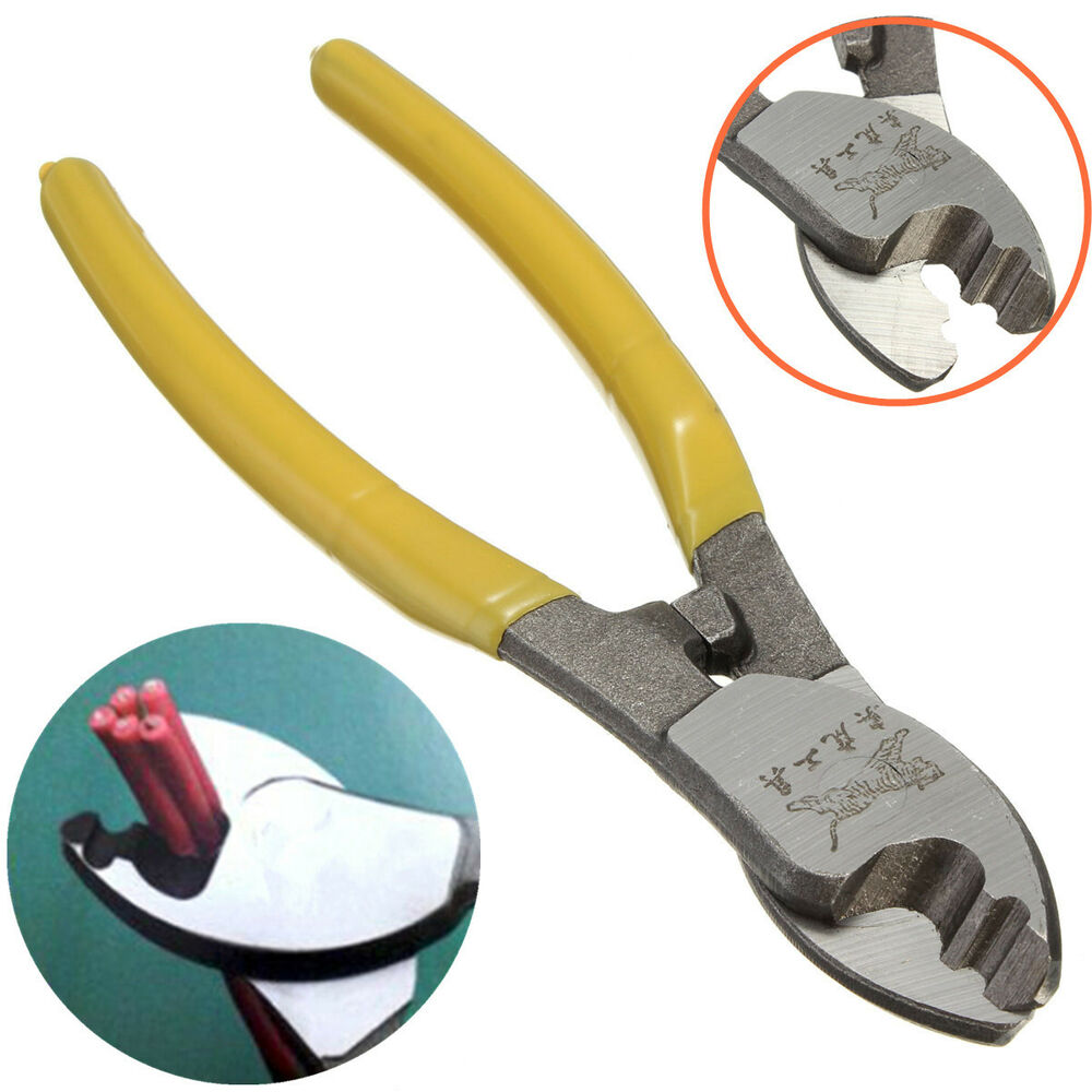 Electrical Cutting Tools : Cable cutter plastic handle electric wire stripper