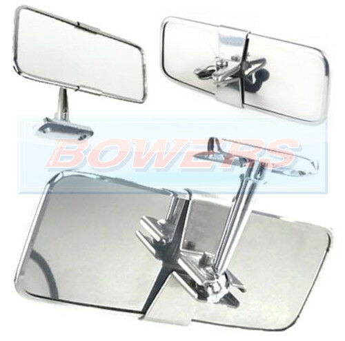 Universal Stainless Steel Chrome Classic Or Kit Car Interior Rear View Mirror Ebay