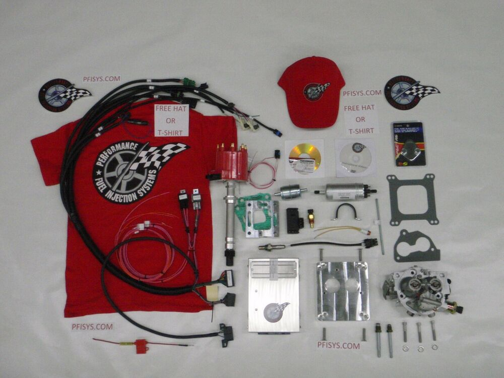 efi complete tbi fuel injection kit stock chevy 350 5 7l