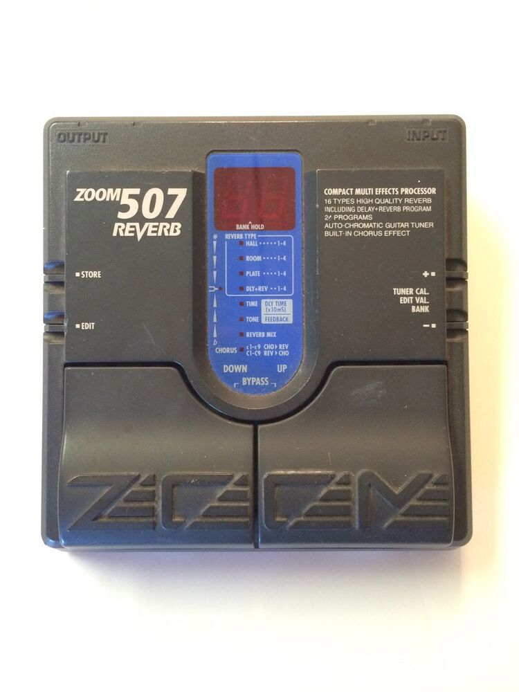 zoom 507 digital reverb multi effects processor rare guitar pedal mij japan ebay. Black Bedroom Furniture Sets. Home Design Ideas