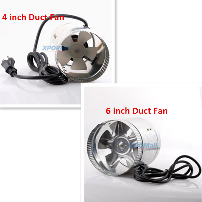 4 Inch Inline Fan : New quot inch duct fan air cooling exhaust vent