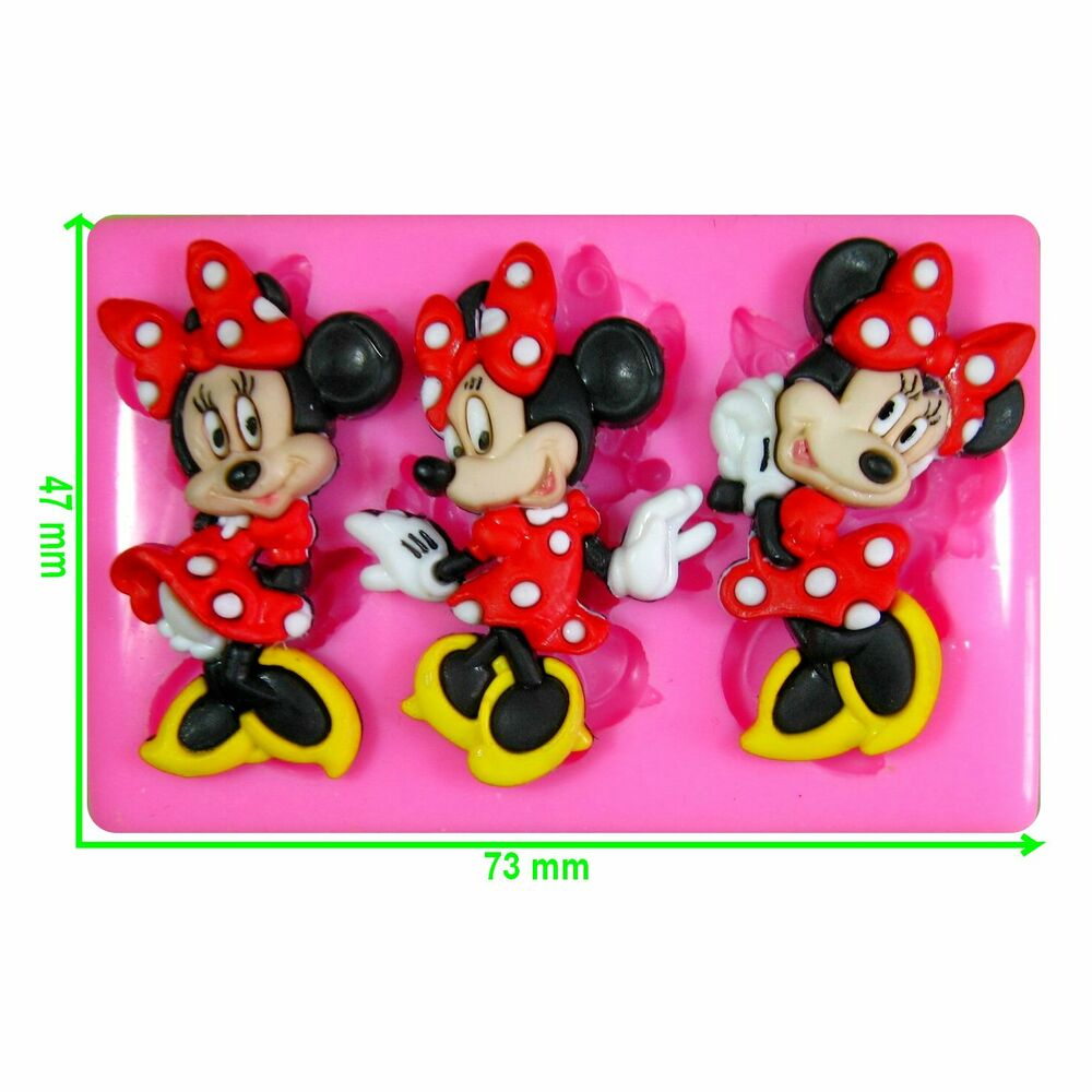 Disney Minnie Mouse Silicone Mould by Fairie Blessings eBay