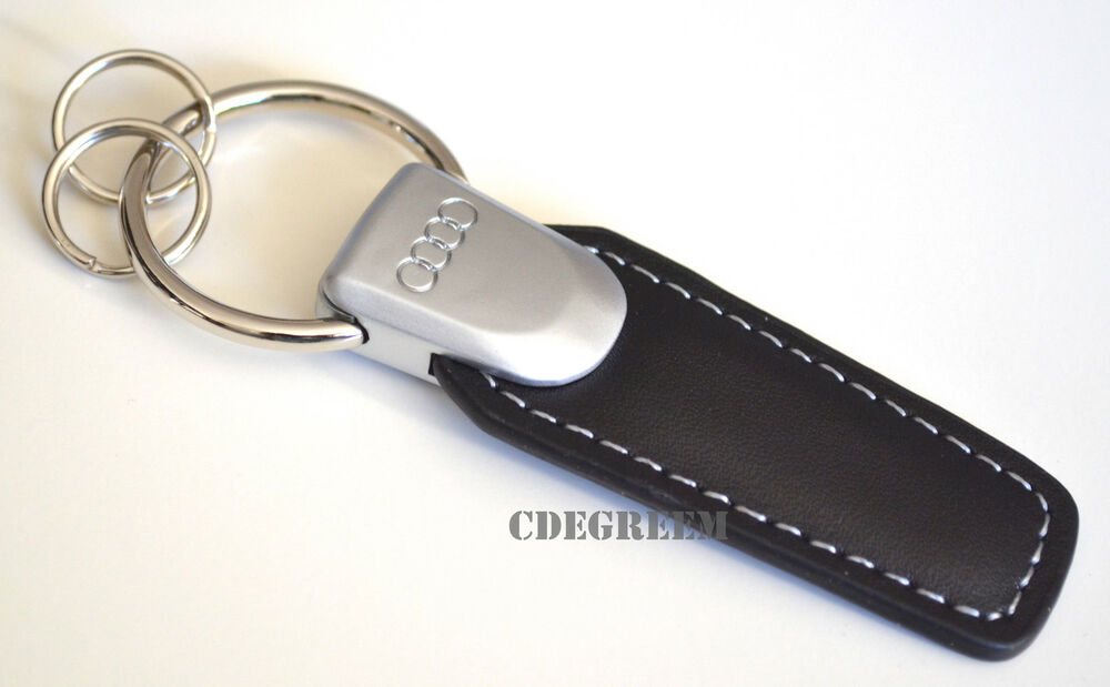 Audi Badge Genuine Black Leather Keychain Easy Open 6 A8 S6 A4 S5 S8 RS4 RS5 R8 | eBay