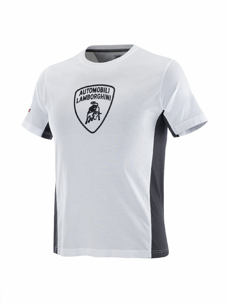 Lamborghini Men S Squadra Corse White Optic T Shirt Oem 9009530ccw017 Ebay