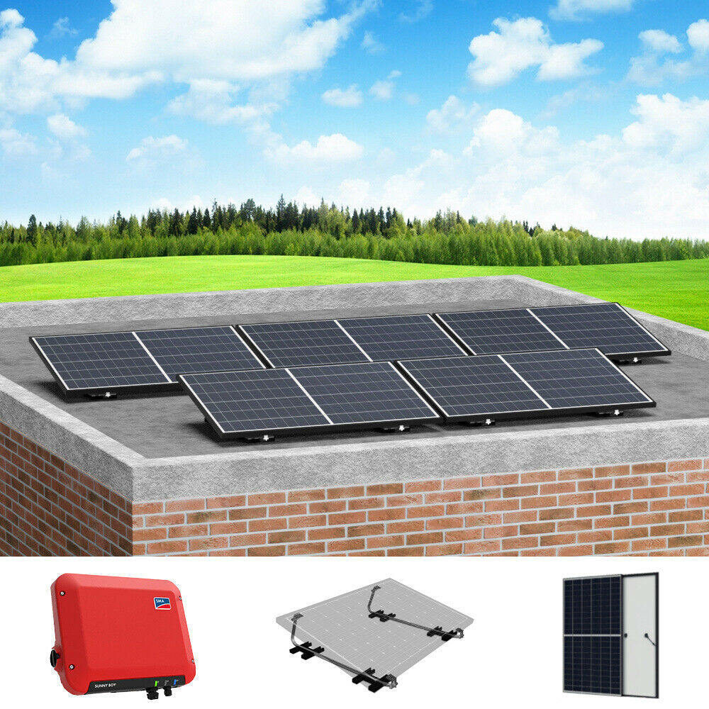 pv anlage komplettpaket 1 350 kwp mit sma wechselrichter flachdachmontage ebay. Black Bedroom Furniture Sets. Home Design Ideas