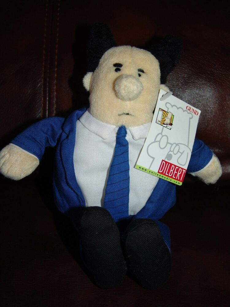 Dilbert The Boss Plush Beanie Doll 9 Quot Ebay