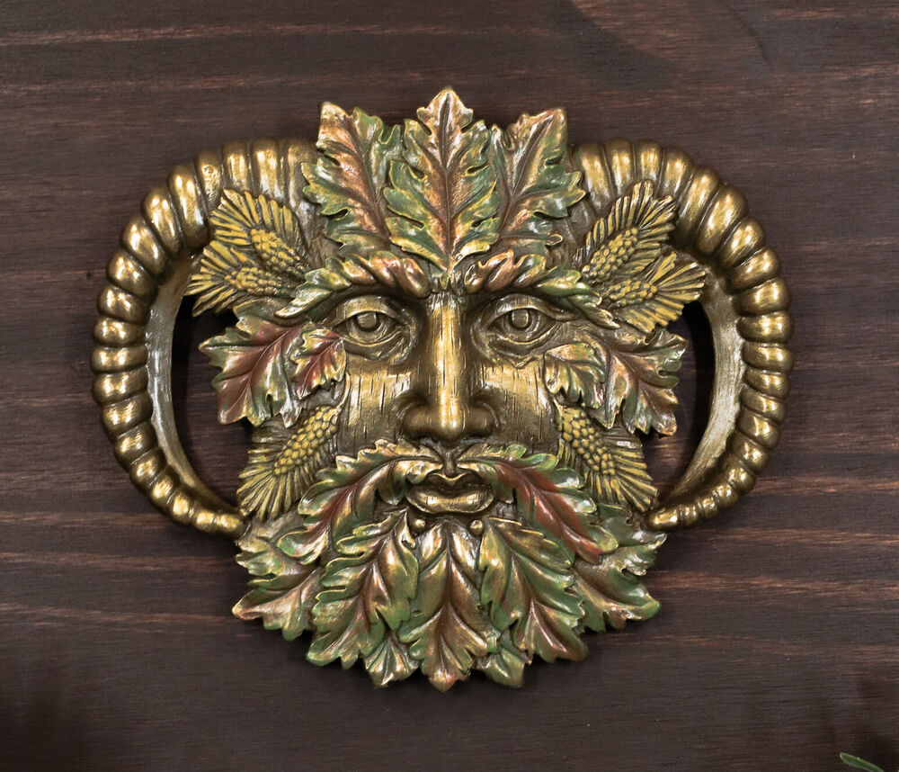 Celtic Greenman Armband: Fall Autumn Celtic Green Man Greenman Pan Wall Plaque