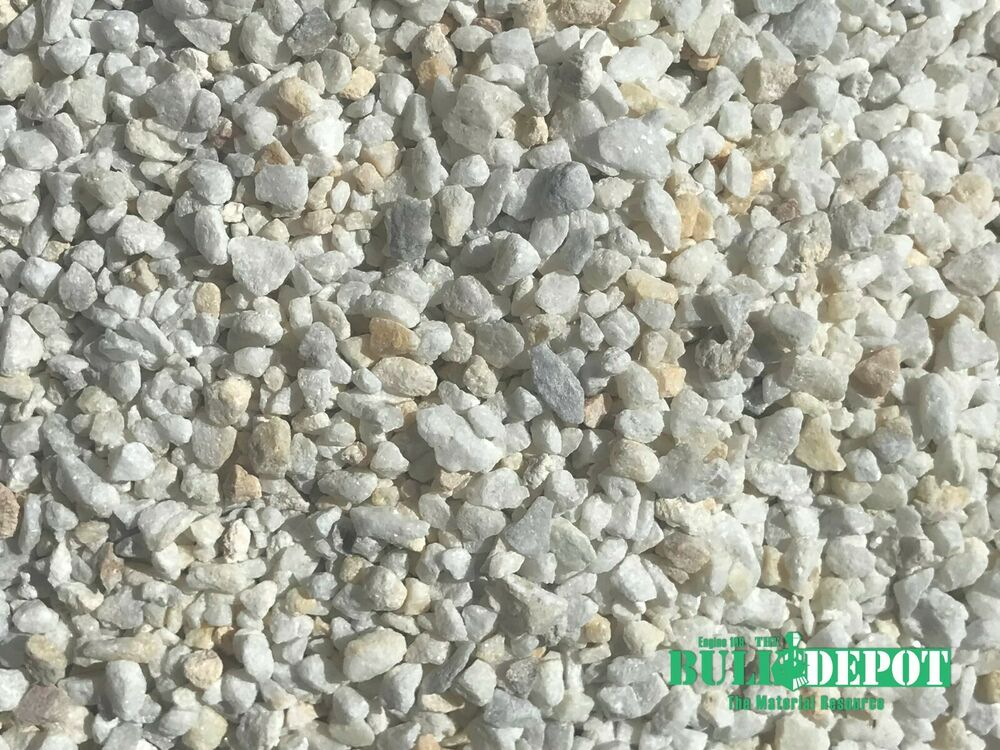 24 Pounds Of White Dolomite Pea Gravel Rock From Engine