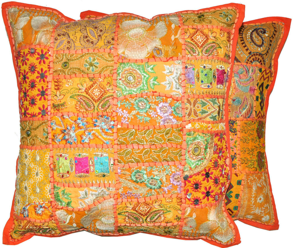Oversized Decorative Pillow Covers : 2pc Orange Decorative Throw Pillow cover, large Cushion Cover,Couch Throw pillow eBay