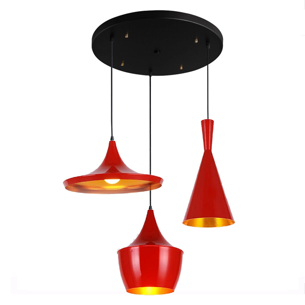 Red Elegant Chandelier Modern Ceiling Pendant Light Lamp