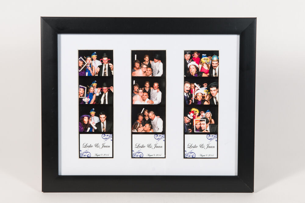 Photo Booth Picture Frame For 3 Photo Booth Strips White