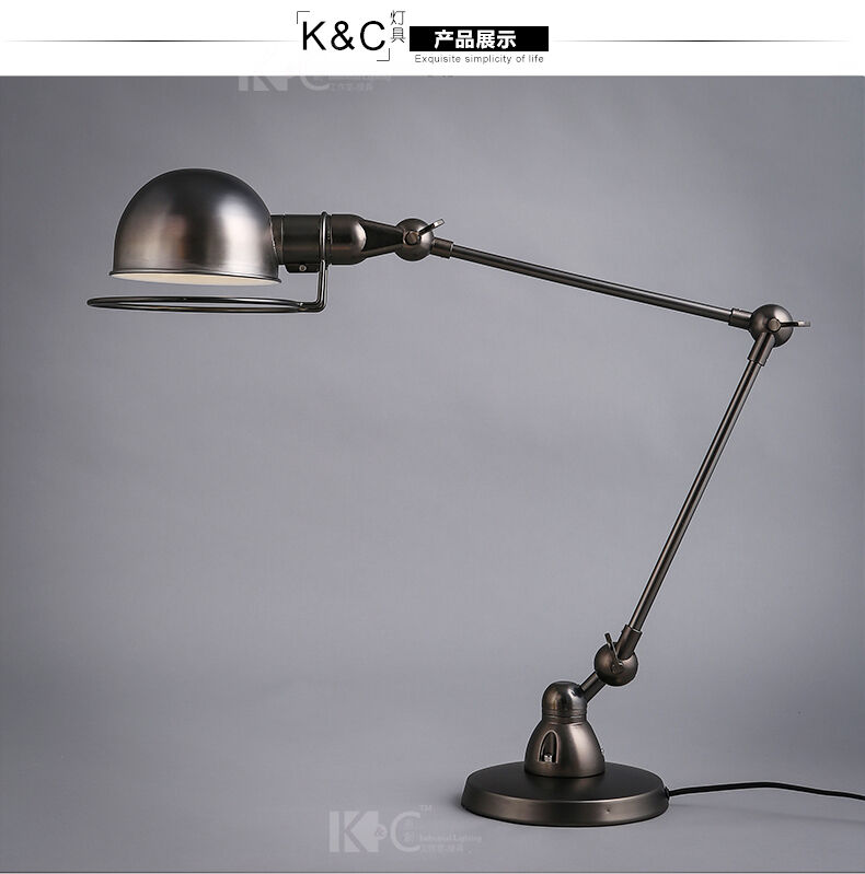 Industrial Atelier Scissor Task Desk Table Lamp Restoration Lighting Fixture