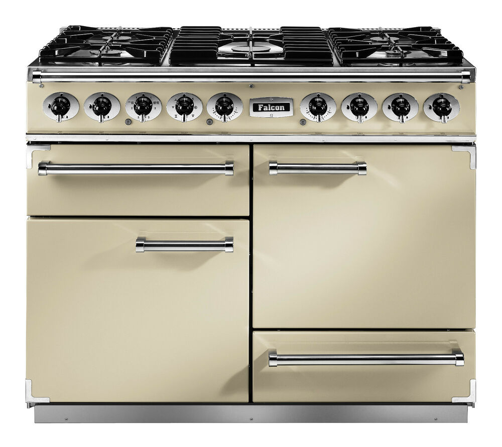 falcon 1092 deluxe induktionsherd herd range cooker rangecooker cream beige ebay. Black Bedroom Furniture Sets. Home Design Ideas