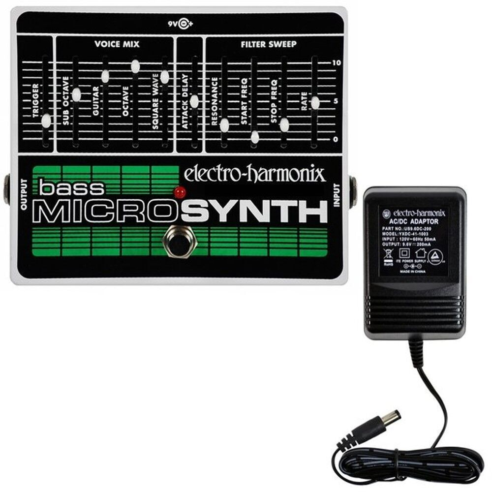 new electro harmonix ehx bass microsynth analog micro synthesizer pedal 683274010809 ebay. Black Bedroom Furniture Sets. Home Design Ideas