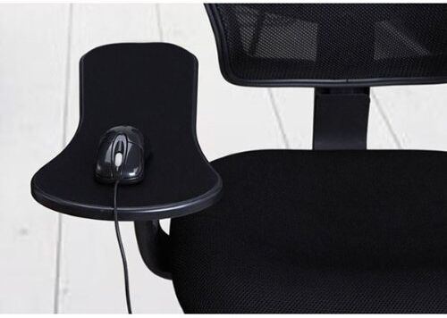 Black Computer Desk Chair Table Arm Wrist Rest Mouse Pad