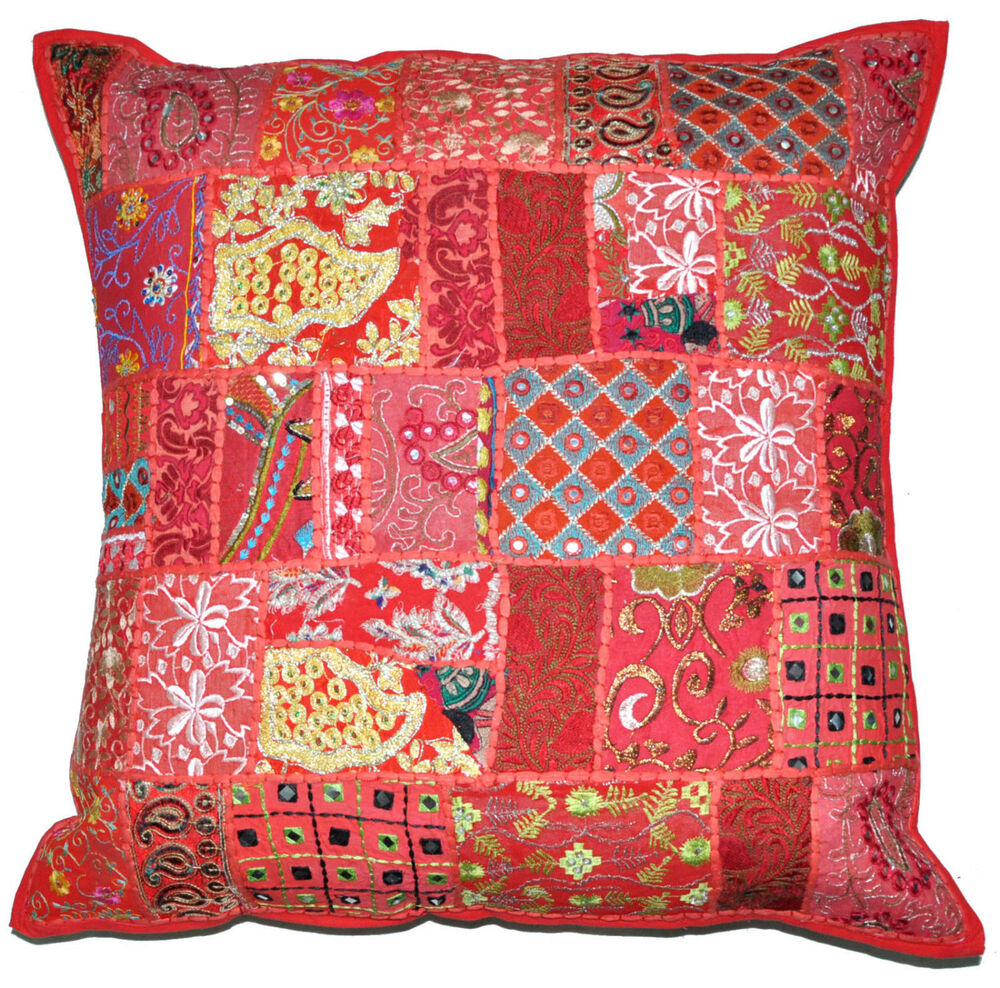24 x 24 Red pillow case decorative throw Embroidered  : s l1000 from www.ebay.com size 1000 x 988 jpeg 313kB