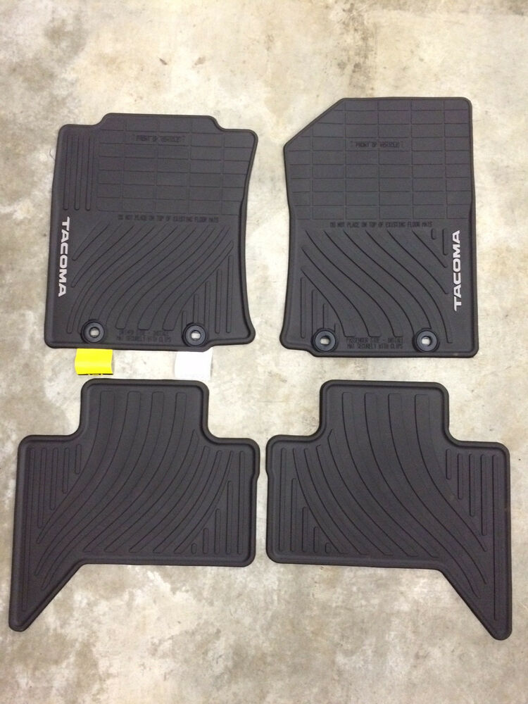 2015 Tacoma Double Cab All Weather Rubber Floor Mats Pt908